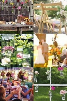 DIY ECO Wedding ideas for glass jars