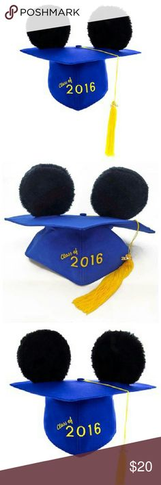 Nwt Mickey graduation cap This is a new Mickey class of 2016 graduation cap. This is a memorable piece and it's a must-have for any 2016 graduate Disney Accessories Hats