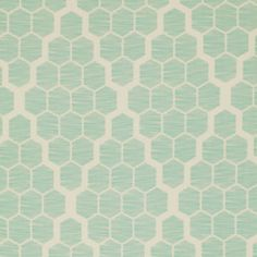 Bungalow SATEEN  Hive in Mint  SAJD024.MINTX  by PinkDoorFabrics