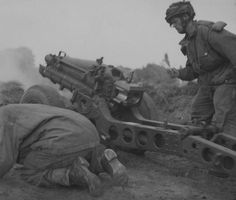 Airborne troops engage the enemy on the outskirts of Arnhem with a 75 mm gun, 19 September 1944 Operation Market Garden, War Image, Paratrooper, British Army, Vietnam War, Armed Forces, World War Two, Warfare, Troops
