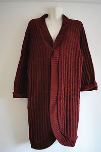 Oxblood Knitted Cardigan £11.99