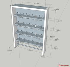 DIY: Sewing thread rack with building instructions ZinullaCraft Sewing Room Design, Sewing Rooms, Coin Couture, Furniture Makeover, Diy Furniture, Formation Couture, Ikea Home Office, Craft Room Tables, Dollar Store Bins