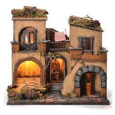 Borgo presepe napoletano stile 700 doppio arco cm 43x40x50 | Arte e antiquariato, Arte sacra, Statuine e presepi | eBay!