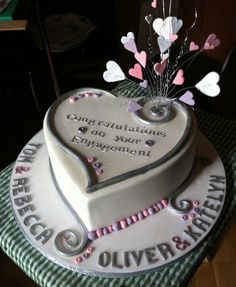 engagement cakes   Heart Double Engagement Cake!   Flickr - Photo Sharing!