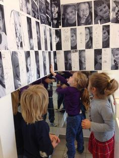 Children's pictures can be hung up so they can look at different facial expressions - then be encouraged to draw themselves. Reggio Inspired Classrooms, Reggio Classroom, Preschool Classroom, Preschool Art, Reggio Documentation, Reggio Emilia Approach, Exposition Photo, Early Childhood Education, Early Education