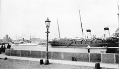 """The Standart anchored in the Neva at St Petersburg in 1909.The white steam yachtat the left is the Vanadis.She was owned bt American,Cornelius Billings. """"AL"""""""