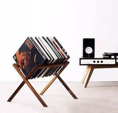 Retro record storage: The Vinyl Stand by HRDL - Retro to GoYou can find Lp storage and more on our website.Retro record storage: The Vinyl Stand by HRDL - Retro to Go Vinyl Record Storage, Lp Storage, Record Shelf, Vinyl Record Holder, Vinyl Shelf, Record Cabinet, Diy Furniture, Furniture Design, Record Stand