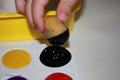 Painting with Playdough and Kid's Coop Linky