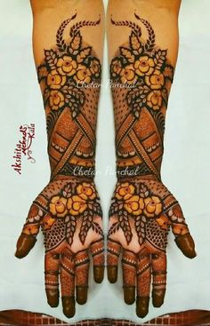 50 Most Attractive Rose Mehndi designs to try - Wedandbeyond Khafif Mehndi Design, Basic Mehndi Designs, Floral Henna Designs, Latest Bridal Mehndi Designs, Henna Art Designs, Mehndi Designs 2018, Mehndi Designs For Beginners, Mehndi Design Pictures, Wedding Mehndi Designs