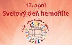 Dnes si pripomíname Svetový deň hemofílie  - vyhlásila ho v roku 2003 Svetová federácia hemofílie (World Federation of Hemophilia, WFH).