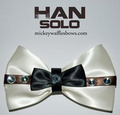 Han Solo Hair Bow - MickeyWafflesBows on Etsy