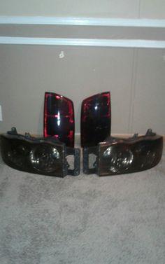 2002-2005 Dodge Ram 1500 used smoked headlight and taillight set no bulbs | eBay Motors, Parts & Accessories, Car & Truck Parts | eBay!