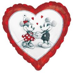 Ver detalles de Globo corazón Mickey & Minnie