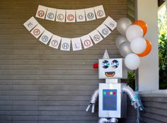 robot themed birthday party! love this idea for one of Emerson's birthdays.