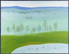 Saara Tikka: Kevätutopia, 1973, öljy, 92x116 cm - Hagelstam A125