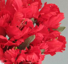 Red Tulip Silk Flower Decor 6 Artificial Flowers by afloralaffair