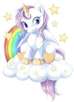 They wanted a simple chibi unicorn/pegasus design for their blanket business so its not related to My Little Pony in any . Com: Rainbow Unicorn (not MLP related) Unicorn Painting, Unicorn Drawing, Unicorn Art, Rainbow Unicorn, Unicorn Images, Unicorn Pictures, Cute Animal Drawings, Cute Drawings, Adventures Of Gumball