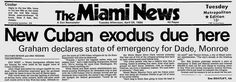 Florida and the U.S. realized the magnitude of the MARIEL BOATLIFT and began assembling resources to deal with the influx of Cuban refugees coming ashore in the Florida Keys and Miami area. On April 28, 1980, Gov. Bob Graham declared a state of emergency and local leaders began demanding help from the federal government in dealing with the thousands of immigrants fleeing the communist island nation.