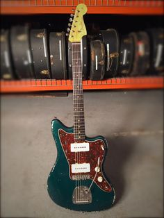 Fender Jazzmaster 1962 owned by Jeff Tweedy - Sherwood Green relic refin | Reverb