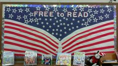 Election day bulletin board for library