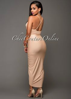 Chic Couture Online - Moryn Nude Draped Front Dress.(http://www.chiccoutureonline.com/moryn-nude-draped-front-dress/)