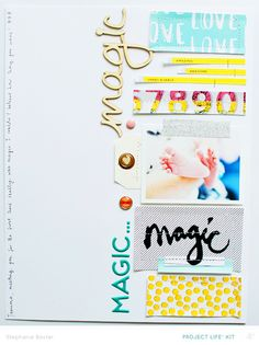 Magic (Member lift) by *paperandglue* at @studio_calico Love the vertical design here!