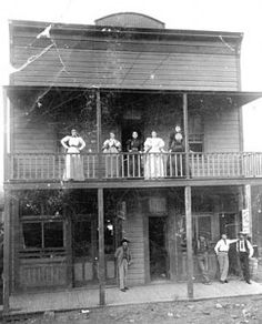 Brothel in Jerome, AZ.  Jennie's Place. It was built in 1898 by Legendary Madam Belgian Jennie Bauters.  She became the richest woman in the Arizona territory before she was murdered.