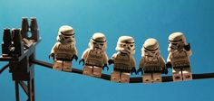 LEGO Stormtroopers on a Wire