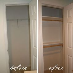 Create more closet space and entice buyers with an extra rod and a few shelves. Create more closet space and entice buyers with an extra rod and a few shelves.