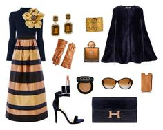 """""""Styling By Wynter: Hermes Midnight"""" by thewynterproject on Polyvore featuring Tory Burch, Coast, Shoe Republic LA, Hermès, Ardent & Co, Estée Lauder, Gucci, AMOUAGE, FOSSIL and Marni"""