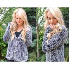 Knitted Button Down Grey Sweater