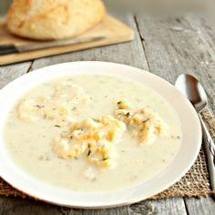 Cream of Chicken Soup w/Dumplings by HungryCouple