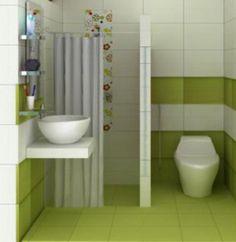 Satukanlah warna yang ada pada dinding serta pada keramik atau lantai supaya Desain Kamar Mandi Rumah Minimalis anda tampak lebih rapi.