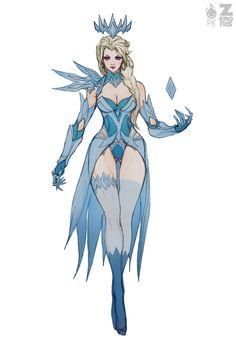 senseorsensuality: Elsa Dark Ice Queen WIP Full by Zeronis Female Character Design, Character Design Inspiration, Character Concept, Character Art, Fantasy Girl, Dark Fantasy Art, Snow Queen, Ice Queen, Dark Queen
