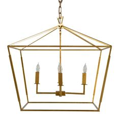Gold lanterns are all the craze right now but we have one that the perfect size and provides lots of light! The Adler Chandelier! #lantern #gold