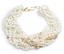 Givenchy Pearl Crystal Torsade Collar Necklace - Lyst