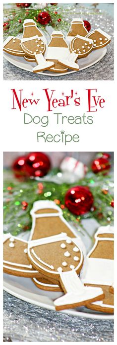 Make this super cute & fun New Year's Eve dog treats recipe so your furry best friend can ring in the New Year along with you. It's also a great hypoallergenic dog treat for dogs without wheat allergies. treats New Year's Eve Dog Treats Recipe - DogVills Dog Biscuit Recipes, Dog Treat Recipes, Dog Food Recipes, Recipe Treats, Homemade Dog Cookies, Homemade Cat Food, Pet Treats, Healthy Dog Treats, Hypoallergenic Dog Treats