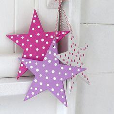 Pink polka dot stars
