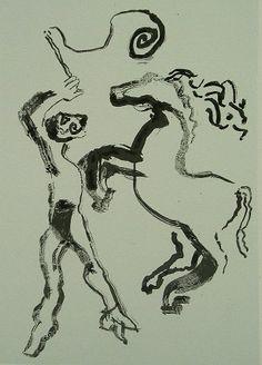 La Edad de la Muerte (VIII). Litografía, 23 x 15,5 cm. mancha, 31,5 x 23 cm. soporte. 60 €.
