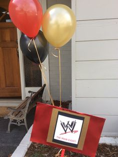 Wwe Party Sign More
