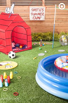 Transform your backyard into Snoopy Summer Camp with the perfect combination of classic backyard games and craft activities. Set up Snoopy's tent house as an activity cabin stocked with fun, crafting supplies. Set up a favorite yard game, or mix and match a few games to make some crazy-fun custom challenges. Who's up for a game of water bottle ring toss? Check out the Peanuts Collection, in stores now.