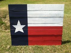 For the Love of Pallets Texas flag made from reclaimed barn wood
