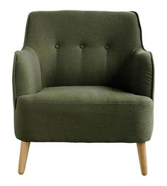 Housedoctor Fauteuil Quest leger groen polyester 75x79xh84cm - wonenmetlef.nl