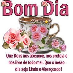 Bom dia! e uma ótima semana pra você! Good Morning Images, Tea Cups, Tableware, Pasta, Maria Jose, Video, Gifs, Facebook, Memes