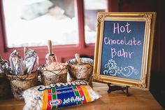 Hot chocolate bar, by Earl James Photography