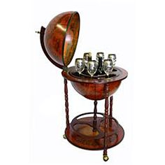 @Overstock - This antique inspired standing globe  features a portable wine rack with caster wheels for easy movement and sturdy wood construction. Convenient and stylish, the top lid of globe opens so you can put your favorite beverage or bottle inside.http://www.overstock.com/Home-Garden/Wood-16th-Century-Style-Globe-Bar-with-Wine-Rack-Holder/5522235/product.html?CID=214117 $149.99