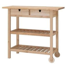 Wood Top Kitchen Carts: High & Low — Best Products for Small Kitchens | The Kitchn