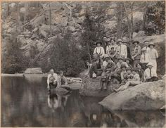 Party at Bear Lake, Estes Park, RMNP, [group picture]. 1927. UHPC, University Archive, Archives and Special Collections, CSU, Fort Collins, CO