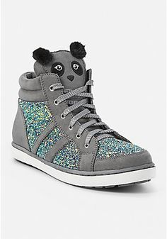 Sparkle Panda High Top Sneaker