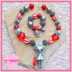 Wizard of Oz necklace Chunky necklace Lalaloopsy by BubblegumGlam, $28.00